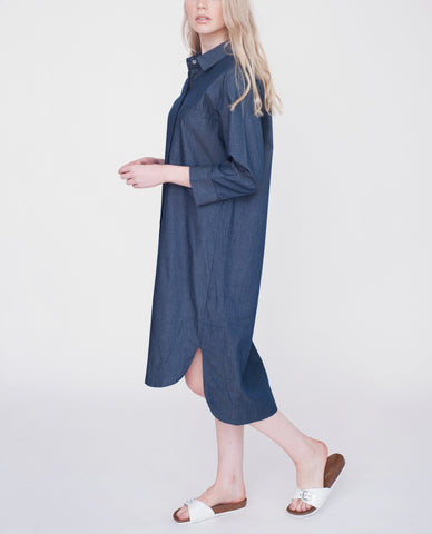JAMILA Cotton Denim Shirt
