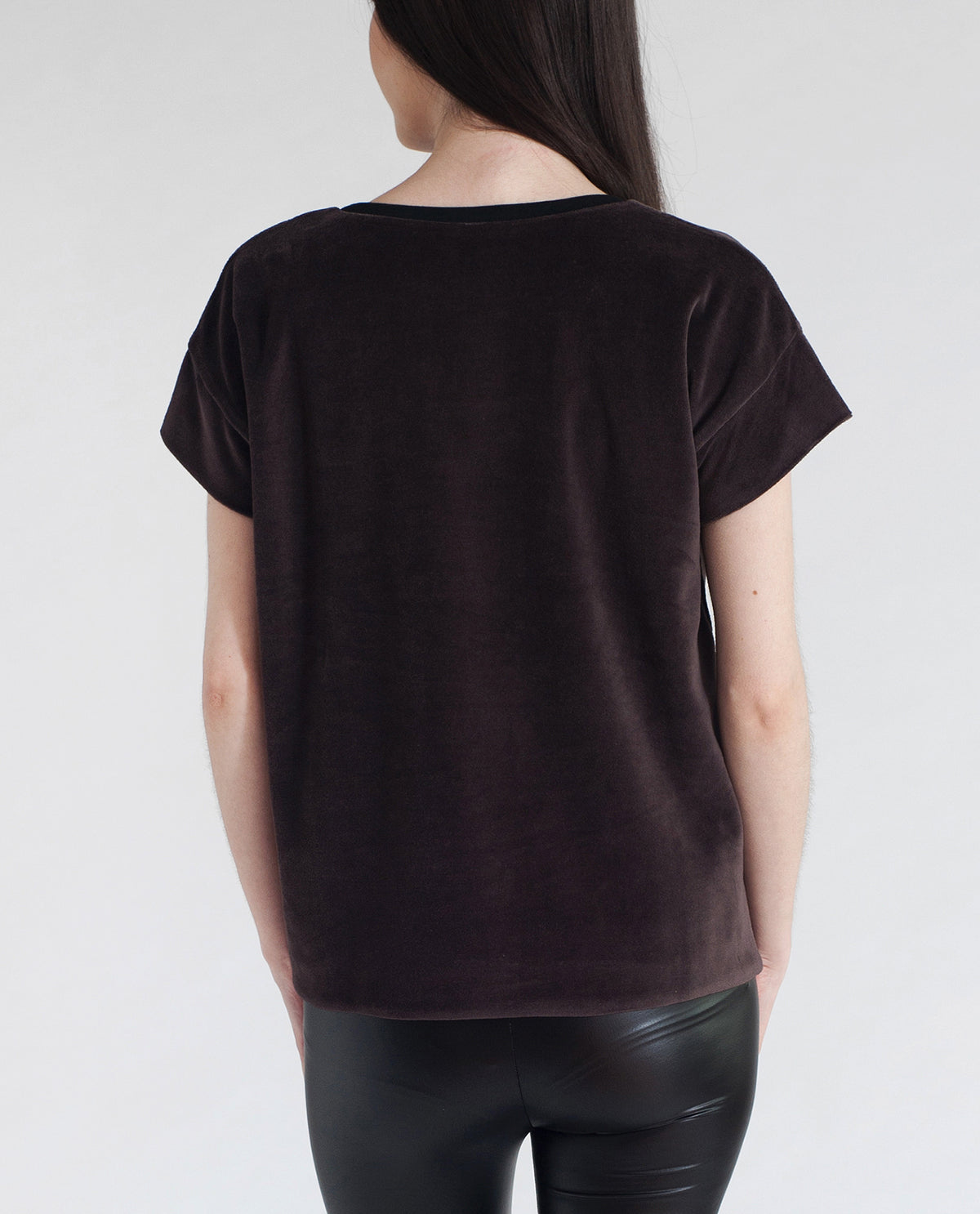 JAQUELINE Cotton Velvet Top