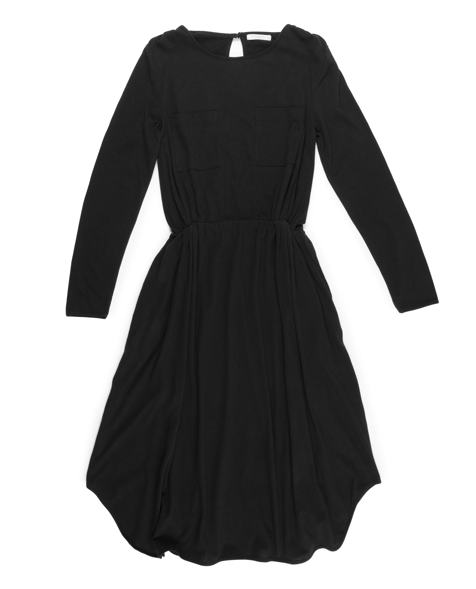 JENNA Organic Cotton Dress In Black from Beaumont Organic