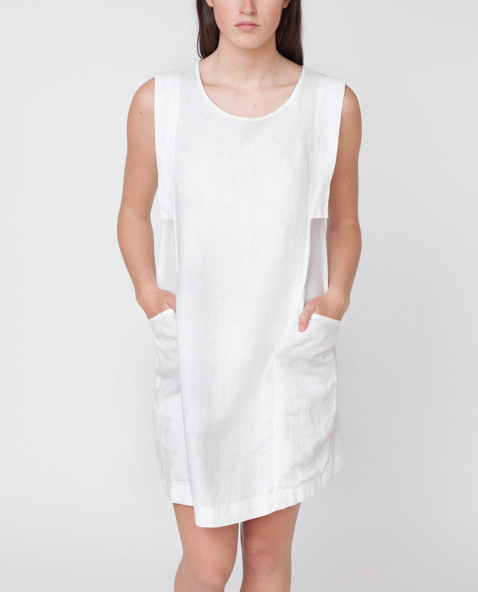 JESS Organic Cotton And Linen Dress In White