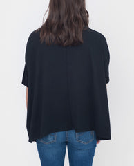 JESSIE Organic Cotton Top In Black