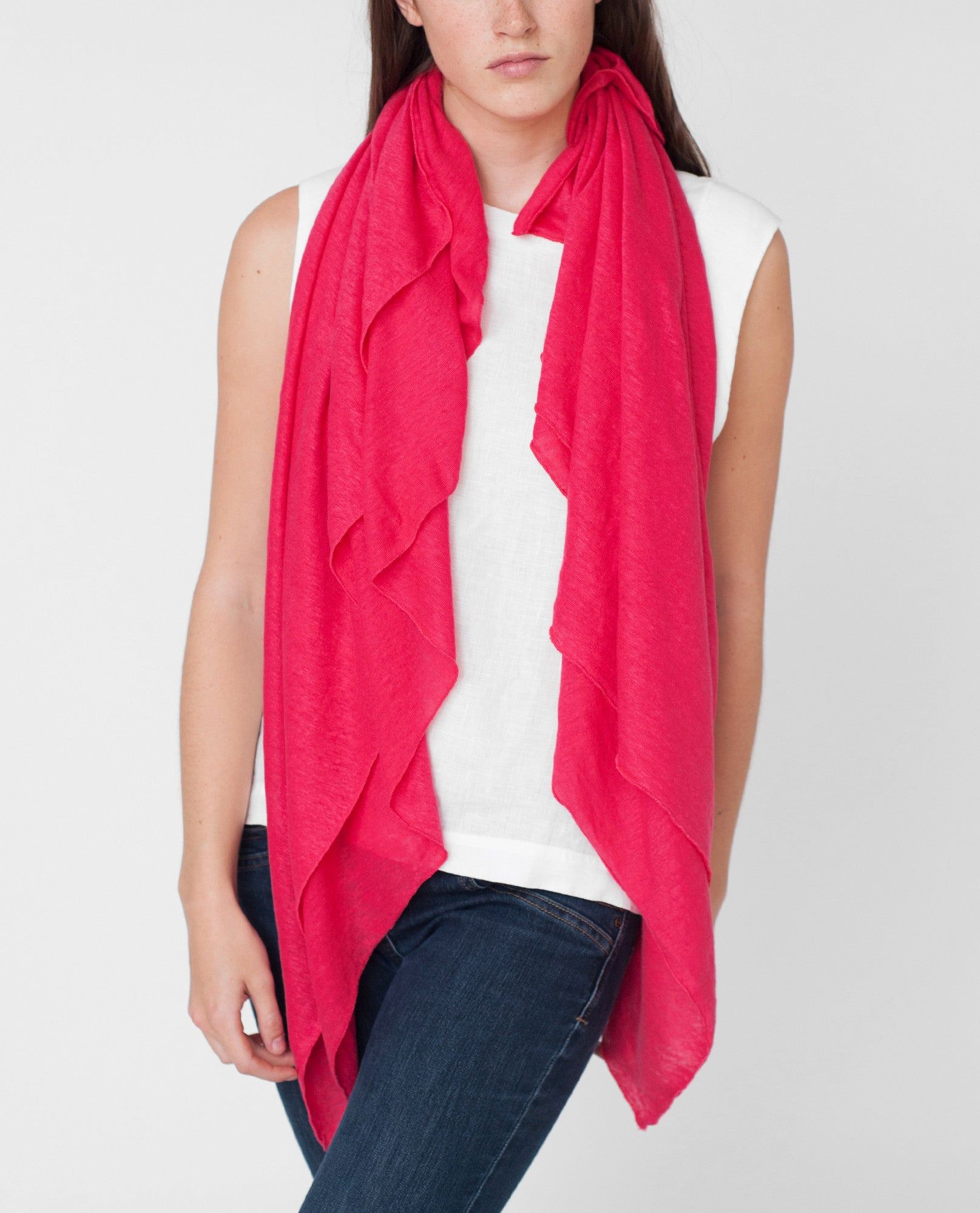 JUNO Linen Jersey Scarf from Beaumont Organic