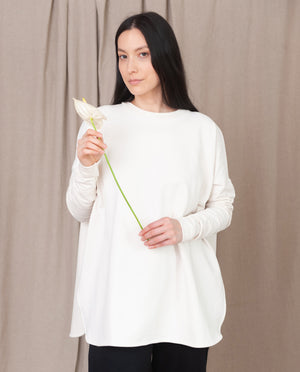 KATE Organic Cotton Sweatshirt In Ecru
