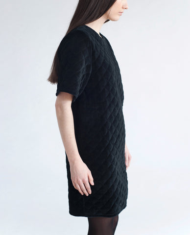 KEIKO Cotton Velvet Quilted Dress