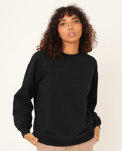 LOUISA Organic Cotton Top In Black