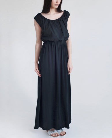 LABURNUM Organic Cotton Maxi Dress In Black
