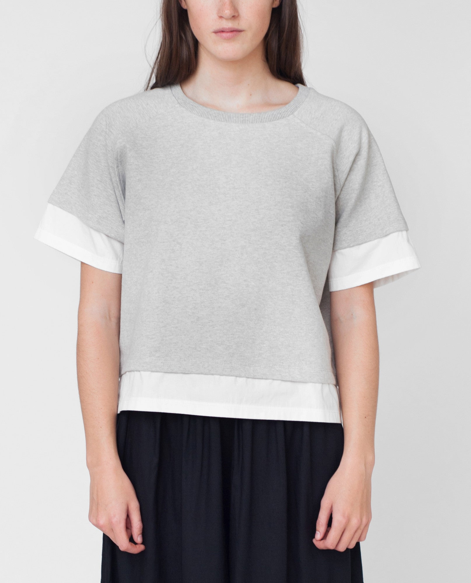 LAURA Organic Cotton Sweatshirt In Light Grey from Beaumont Organic