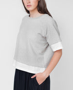 LAURA Organic Cotton Sweatshirt In Light Grey