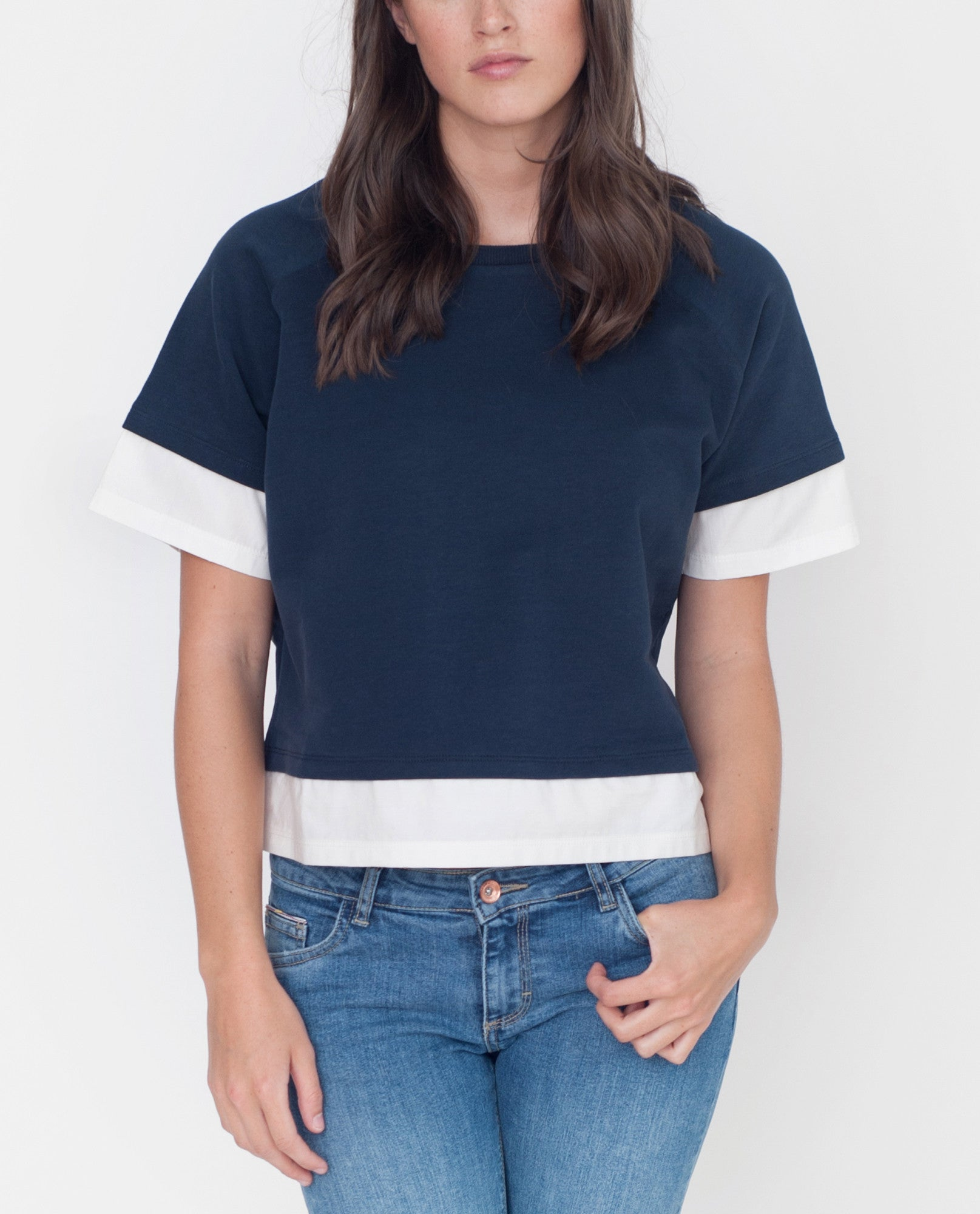 LAURA Organic Cotton Sweatshirt In Navy