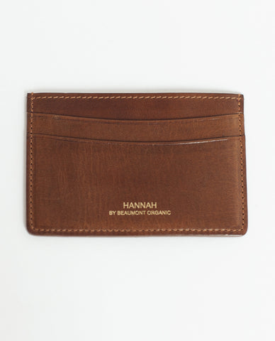 LEON Leather Card Holder In Tan