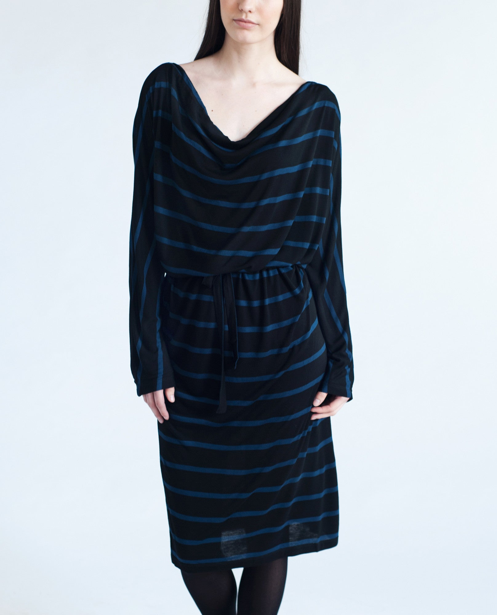 LEONA Bamboo Striped Dress from Beaumont Organic