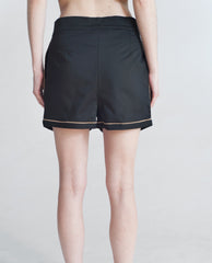 LINNEA Cotton Canvas Shorts In Black