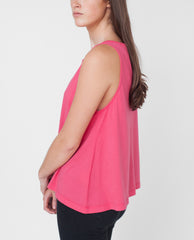 LOGAN CAMI Organic Cotton Top In Fuchsia