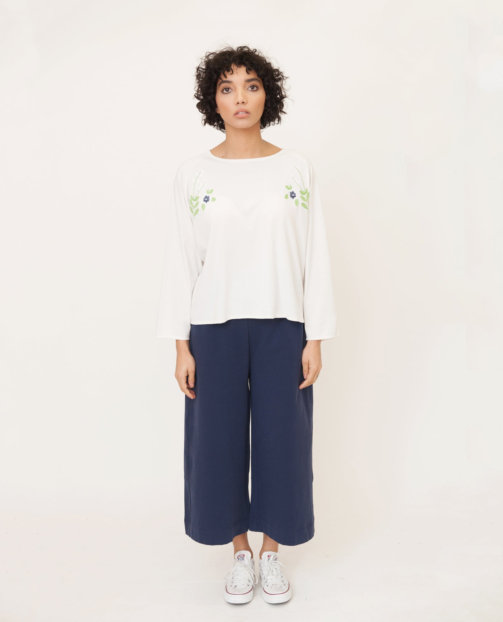 LORELAI Organic Cotton Top In Off White from Beaumont Organic