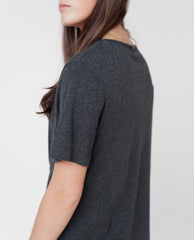 LOU Organic Cotton Tunic In Dark Grey