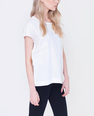 LUNA Organic Cotton Pique Top In White