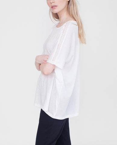 LYLA Organic Cotton Top In White
