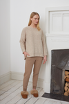 ZADIE Organic Cotton Trousers In Stone Marl