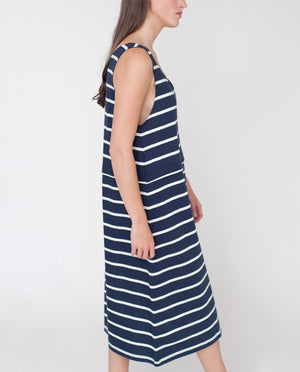 MACIE Organic Cotton Dress In Navy