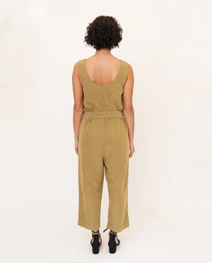 MARGARET Modal Jumpsuit In Khaki