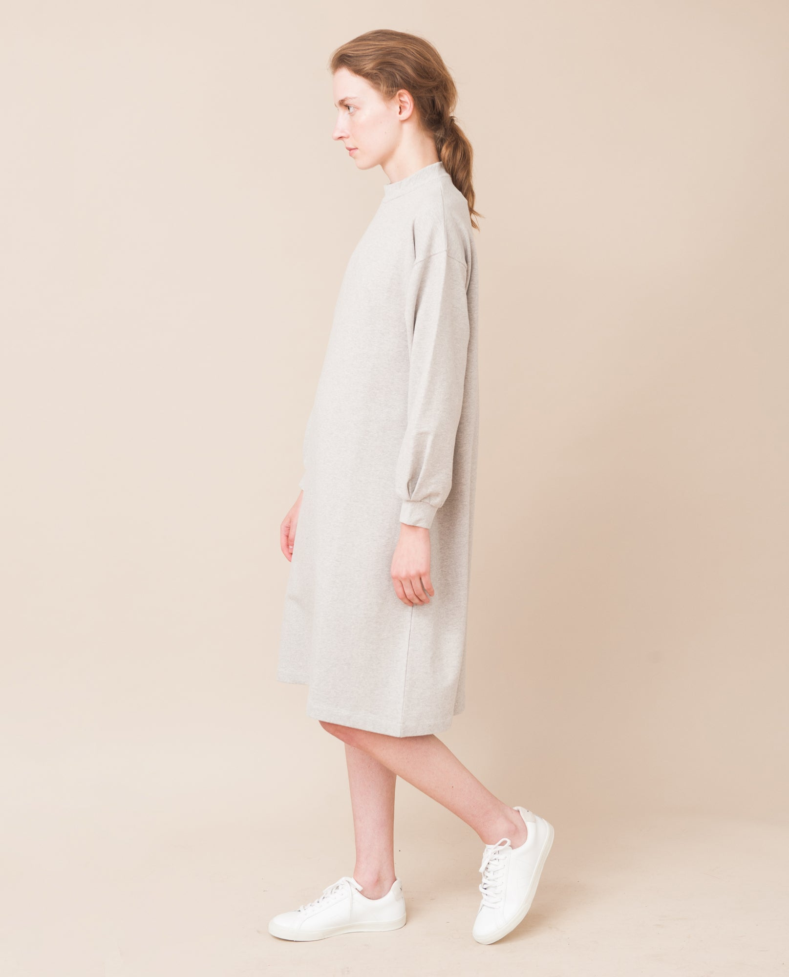 MARTA Organic Cotton Dress In Light Grey