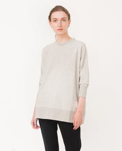 MARY Organic Cotton Sweatshirt In Light Grey