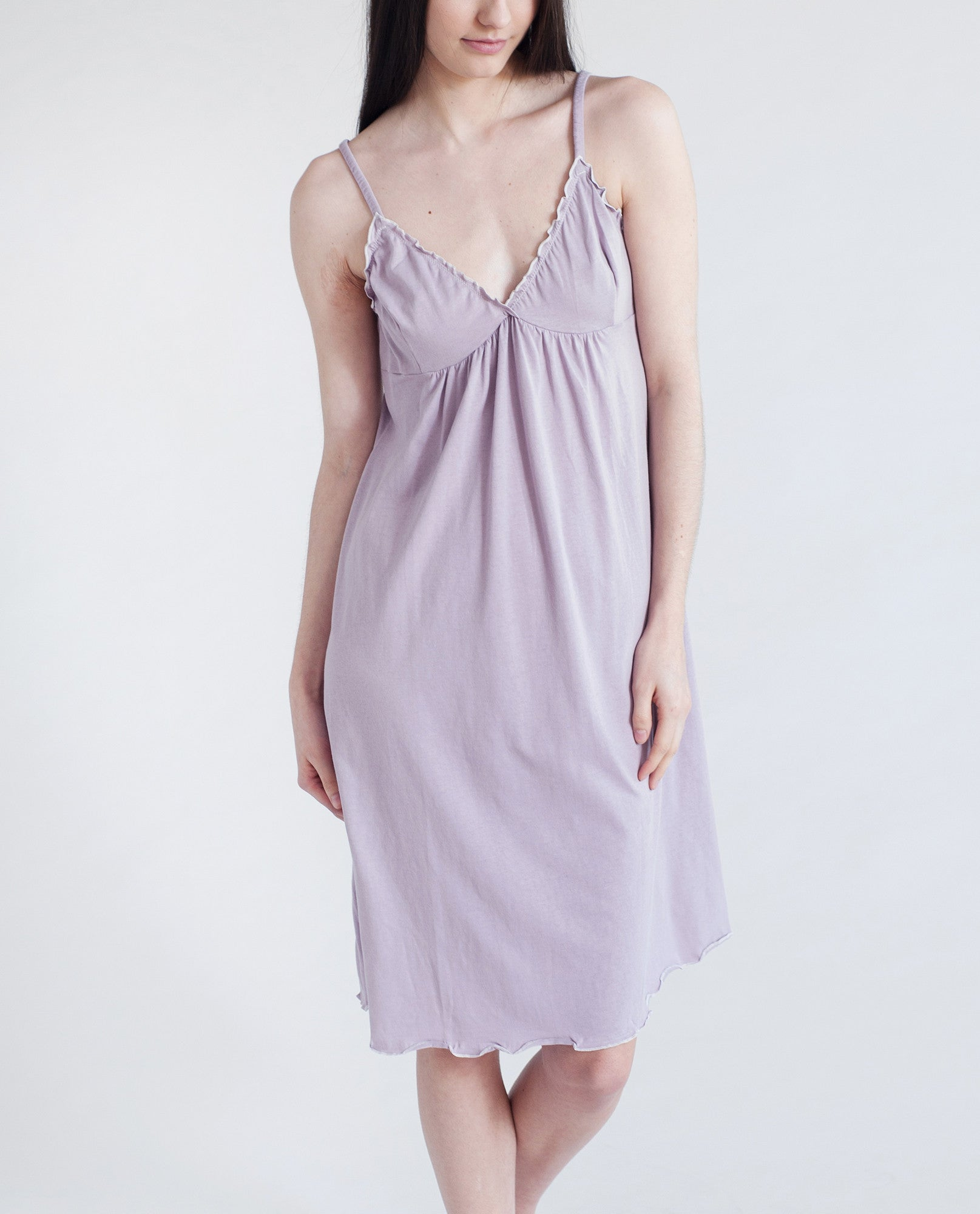 MARYLOU Organic Cotton Nighty In Lilac
