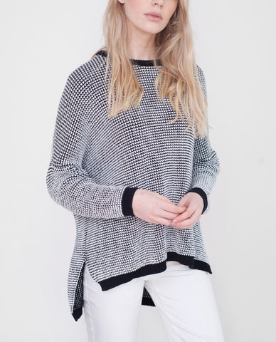 MARYAM Cotton Monochrome Knit Jumper