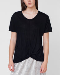 MEGAN Bamboo Top In Black