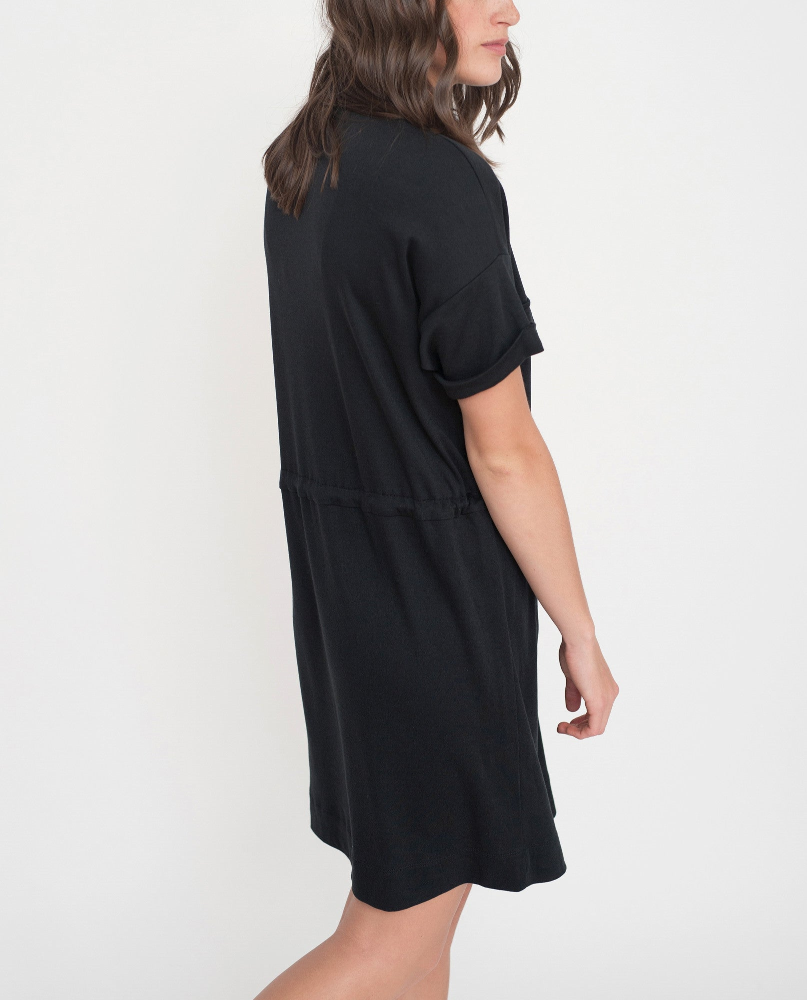 MILA Lyocell And Cotton Shirt Dress In Black
