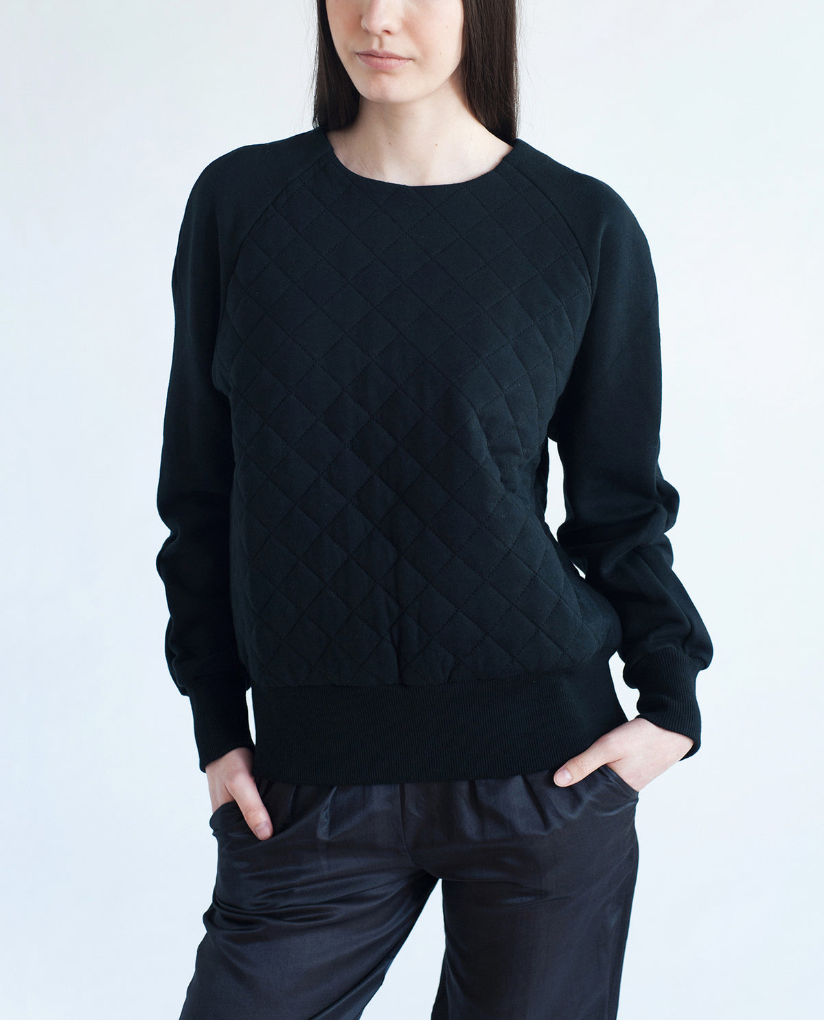 MOLLY-LOU Cotton Quilted Sweatshirt