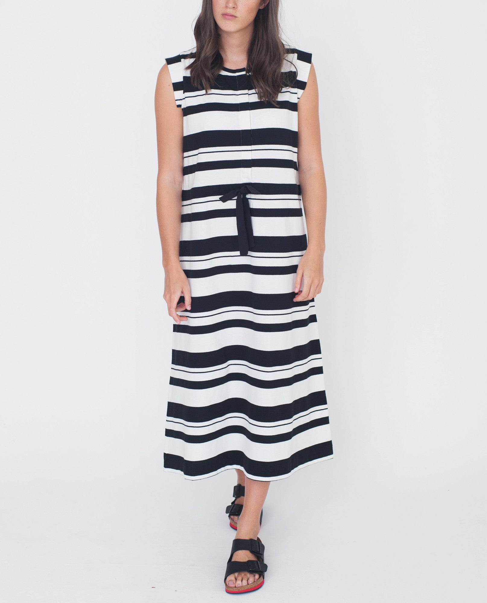 MONA Organic Cotton Dress In Black And Off White from Beaumont Organic