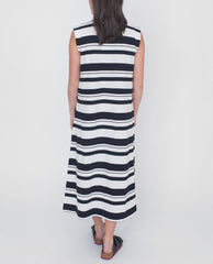 MONA Organic Cotton Dress In Black And Off White