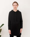 NOAH Organic Cotton Hooded Dress In Black