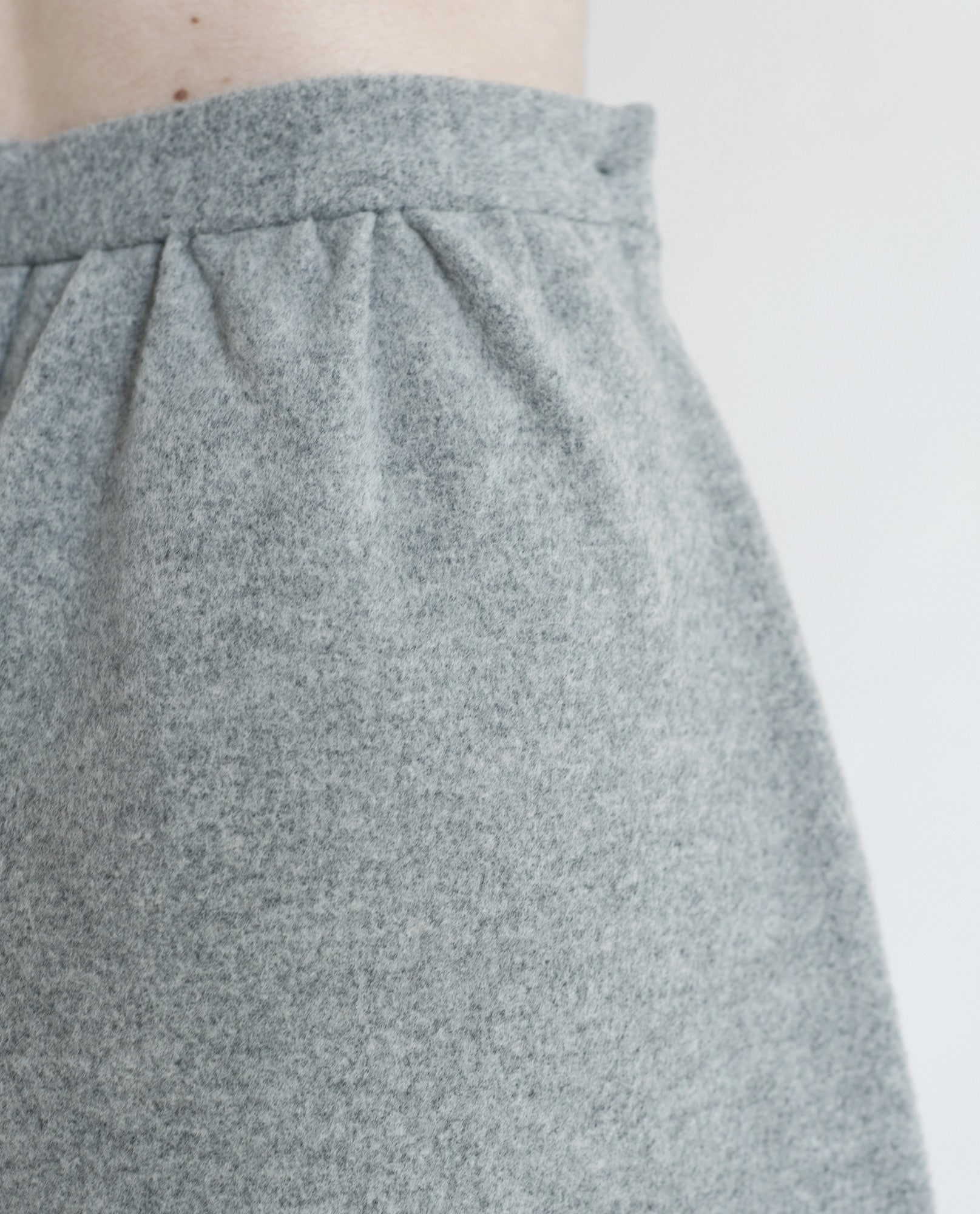 NATALIE Wool Wide Leg Shorts In Light Grey