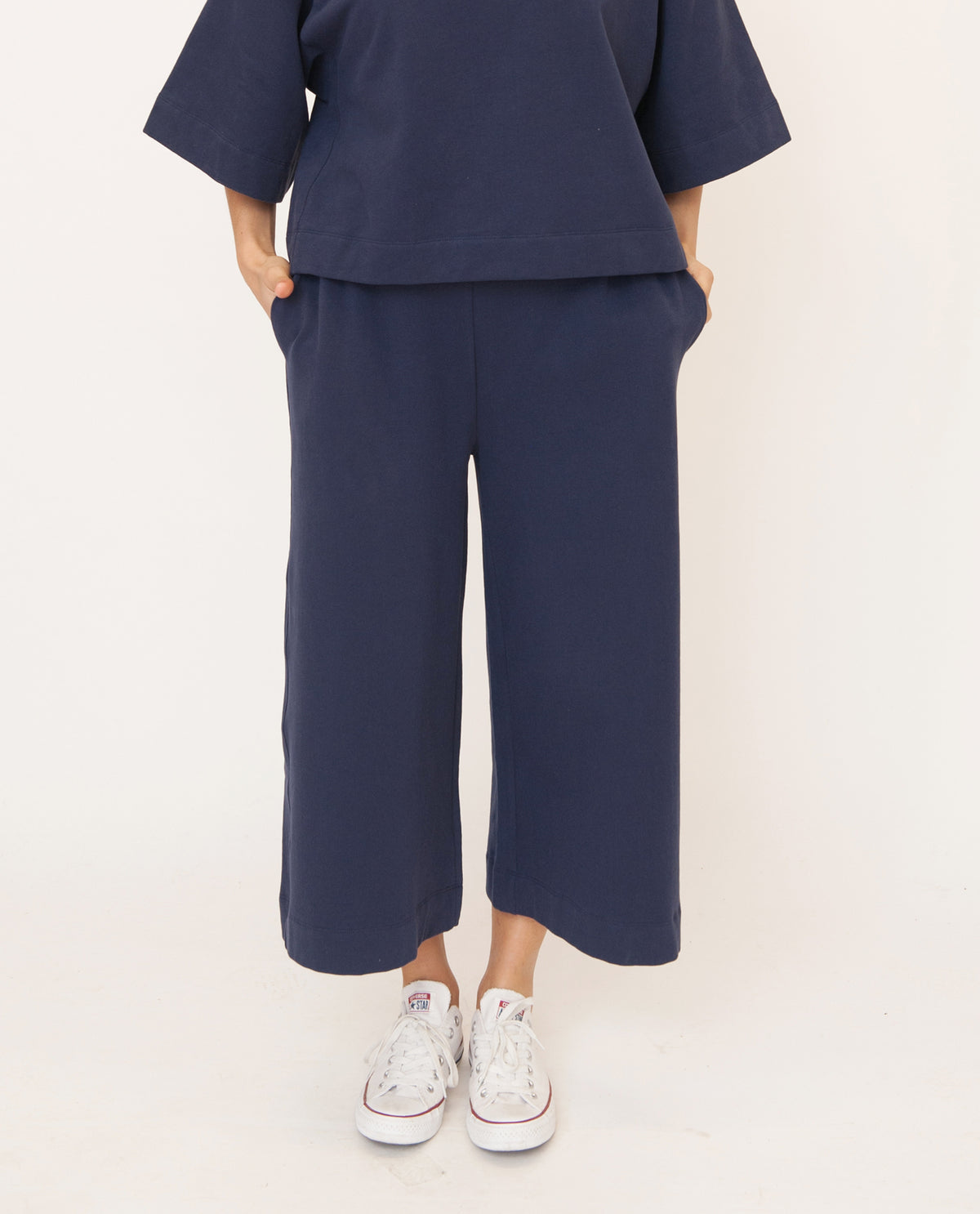 NICKY Organic Cotton Trouser In Navy