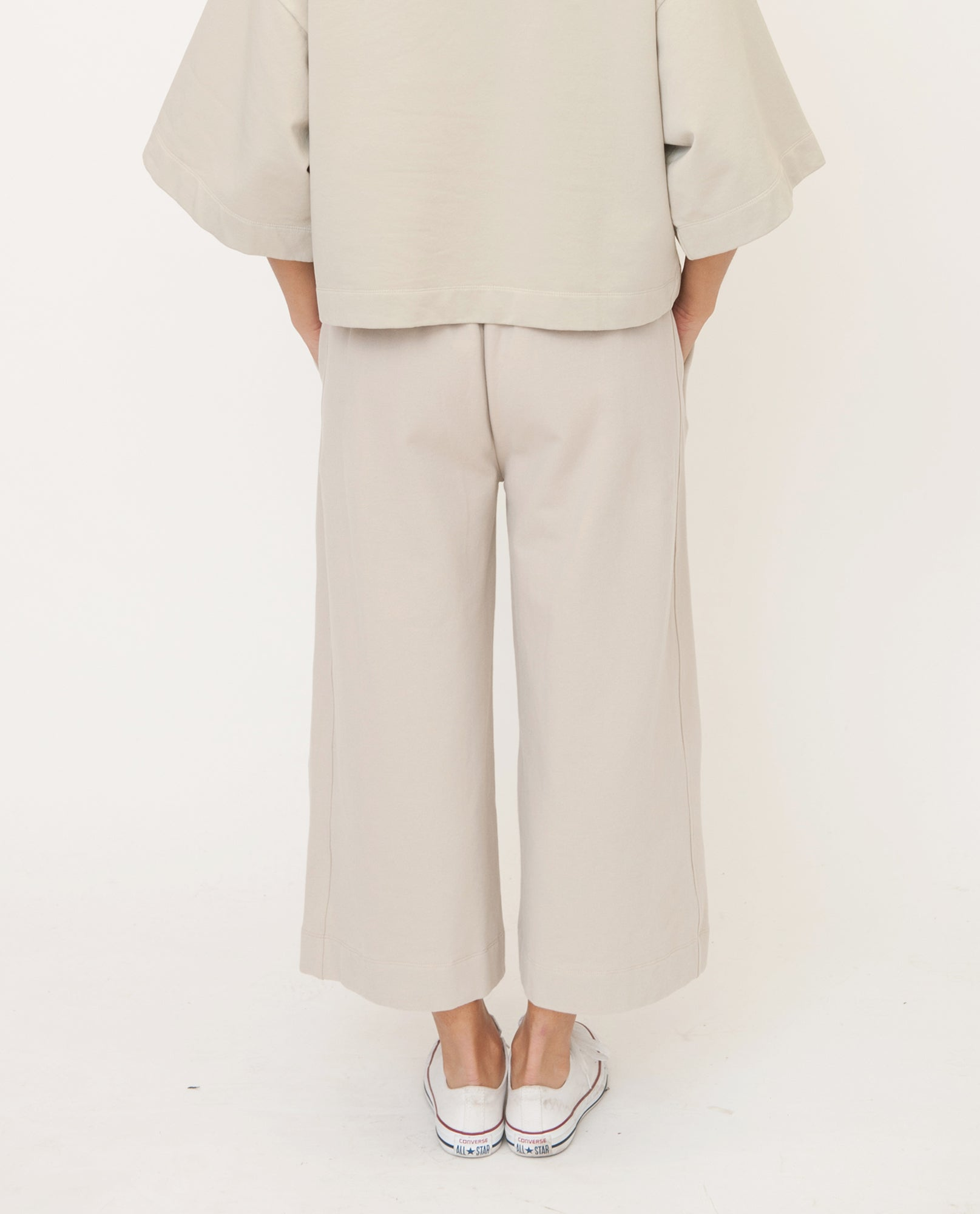 NICKY Organic Cotton Trouser In Stone