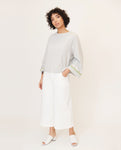 OLETA Organic Cotton Top In Grey Marl
