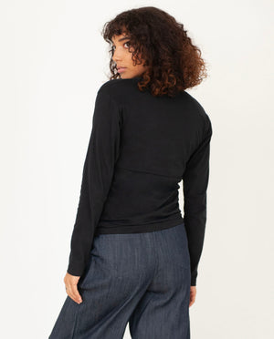 PALOMA Organic Cotton Top In Black