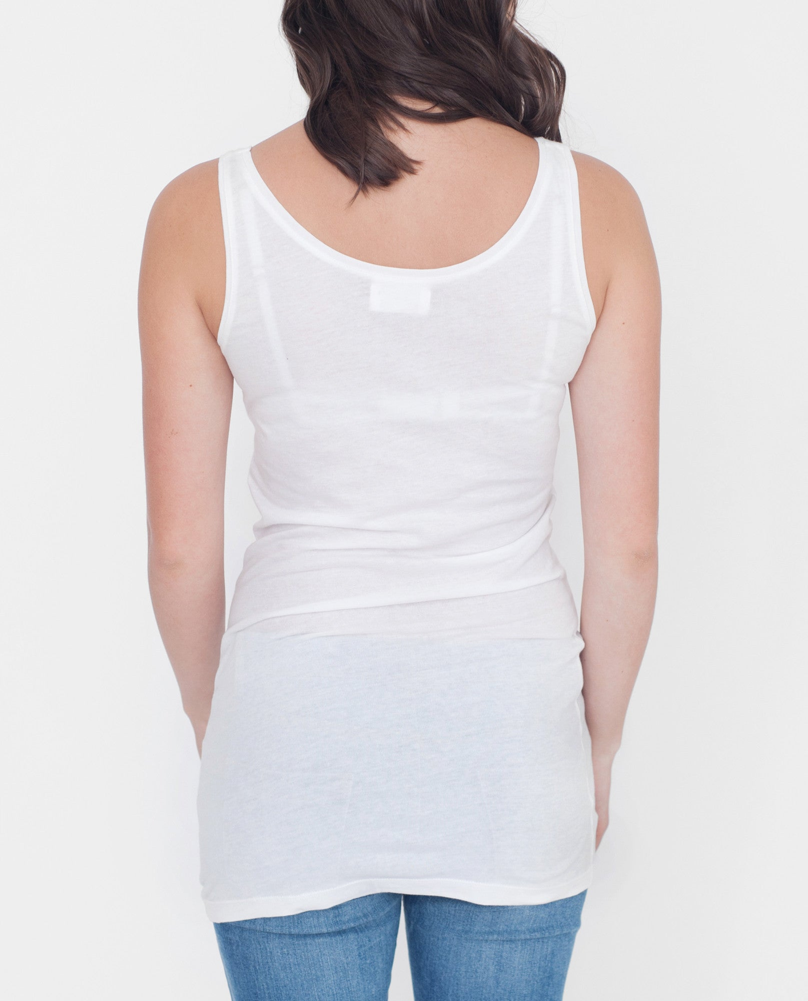PAISLEY Organic Cotton Vest Top In White