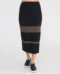 PAM Organic Cotton Skirt In Black And Khaki