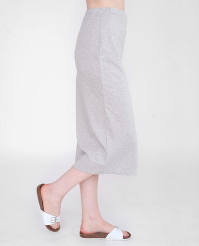 PAM Organic Cotton Skirt In Light Grey