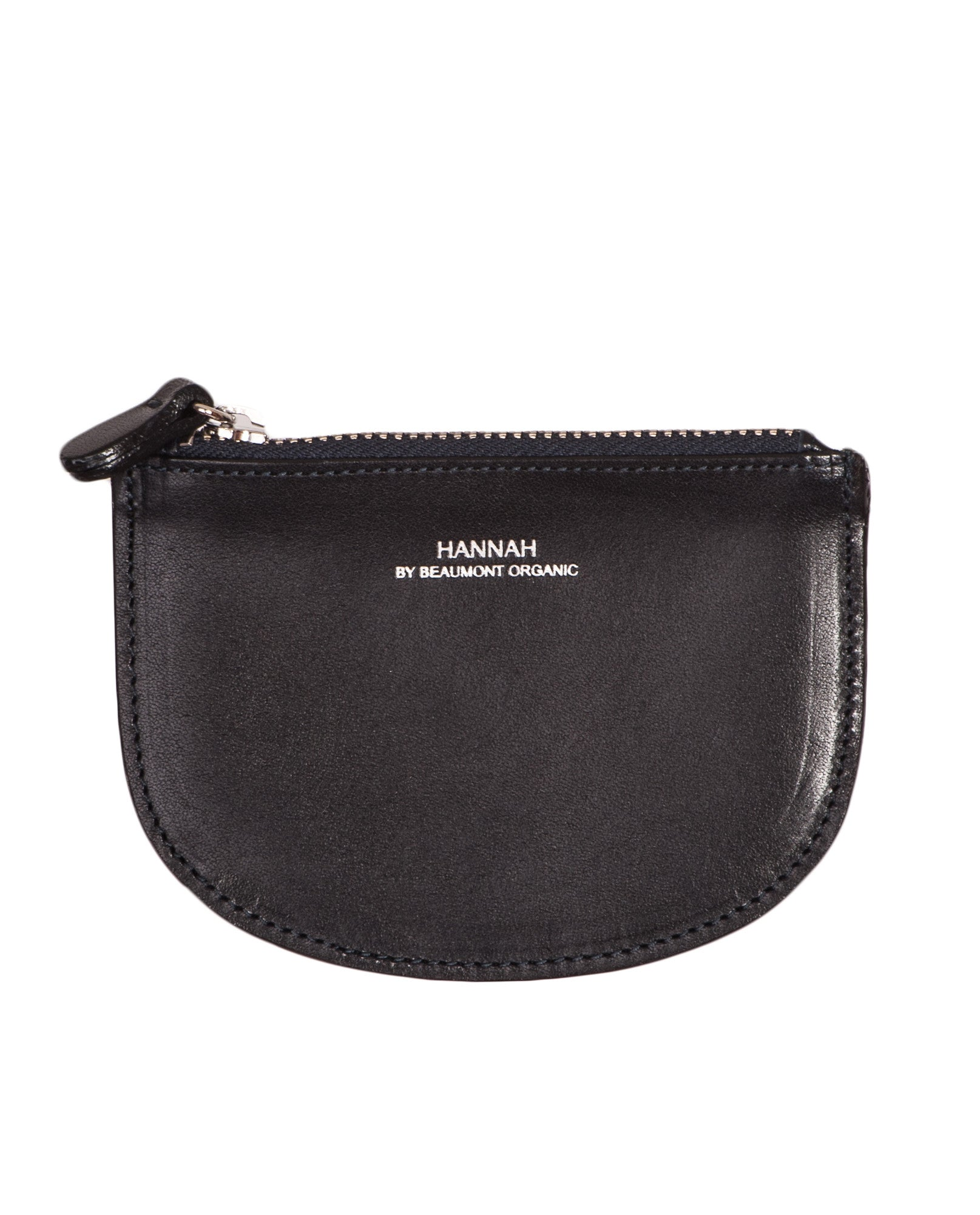 PARIS Leather Coin Purse In Black