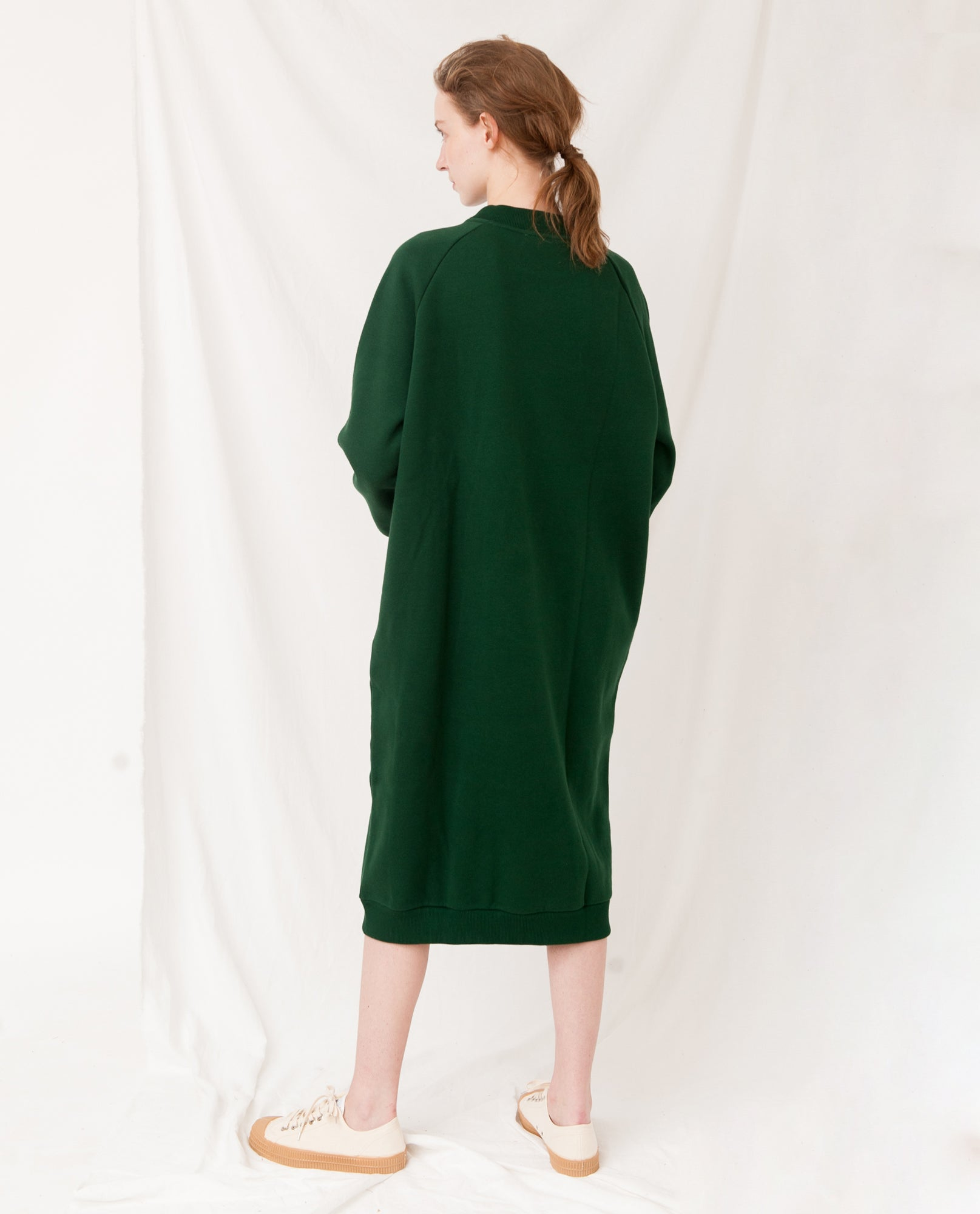PARKER Organic Cotton Dress In Evergreen
