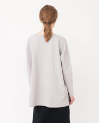 RAFAELA Organic Cotton Top In Flint