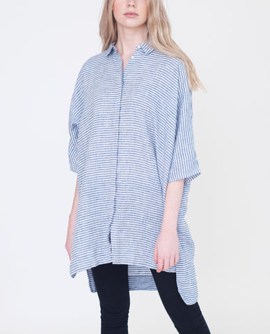 ROWENA Linen Striped Shirt