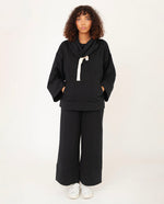 SIMONE Organic Cotton Sweatshirt In Black