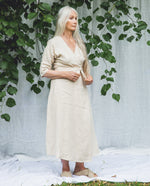 Rachael Linen Dress In Cream.