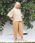Adrienne Organic Cotton Trousers In Camel