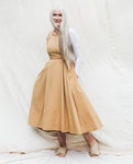 Remi Organic Cotton Dress In Camel